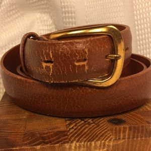 Paris leather selected cowhide vintage belt